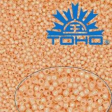 Korálky - Toho Rokajl 11/0 Silver-Lined Milky Peach č.2111 25g - 9269988_