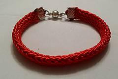 Náramky - Červený náramok - 9272194_