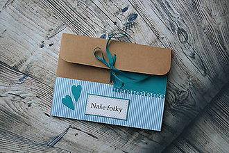 Darčeky pre svadobčanov - fotobox s kamienkami (Modrá) - 9269286_
