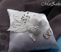 Prstene - svadobný vankúšik na obrúčky - 9269781_