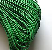 Galantéria - Šnúrka voskovaná 1 mm - 20 m (zelená II) - 9269873_