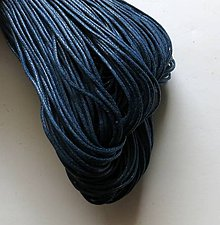 Galantéria - Šnúrka voskovaná 1 mm - 20 m (modrá tmavá) - 9269859_