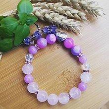 Náramky - Náramok z ruženínu a jadeitu ,,Mama,, - 9272954_