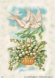 Papier - Ryžový papier - holúbky 30x40 cm       Mond-ID 8048 - 9273543_