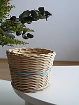 Košíky - pletený košík IV. - 9271681_