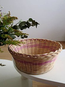 Košíky - pletený košík - 9271582_