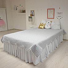 Úžitkový textil - sivý prehoz - 9273536_