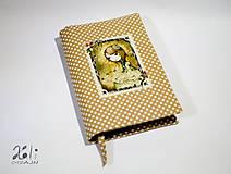 - Obal na knihu – Mirabelle hnedý bodkovaný - 9272501_