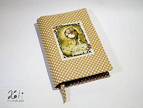 Papiernictvo - Obal na knihu – Mirabelle hnedý bodkovaný - 9272501_