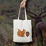 Nákupné tašky - Veverička (bavlnená taška) - 9272347_