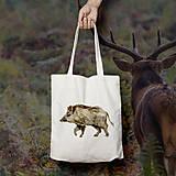Nákupné tašky - Diviak (bavlnená taška) - 9272367_