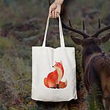 Nákupné tašky - Líška (bavlnená taška) - 9272384_