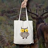 Nákupné tašky - Sovička (bavlnená taška) - 9272401_