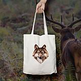Nákupné tašky - Vĺčik (bavlnená taška) - 9272427_