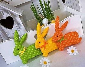 Dekorácie - Zajačiky... - 9272300_