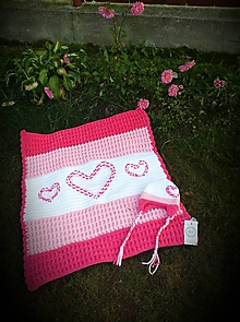 Textil - Detská deka SRDCE - 9272045_