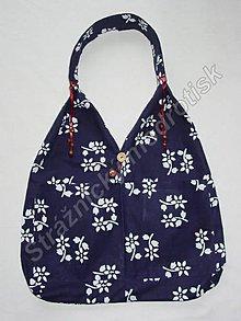 Kabelky - Taška/kabelka s korálky a s kapsou MODROTLAČ_různé motivy - 9269945_