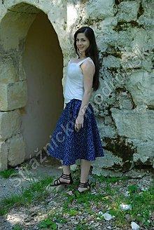 Sukne - Zavinovací sukně delší MODROTLAČ_vzor na přání - 9270407_
