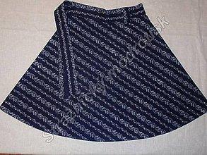 Sukne - Zavinovací sukně ve střední délce MODROTLAČ_vzor na přání - 9270502_