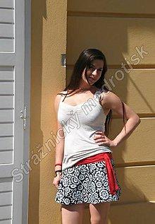 Sukne - Zavinovací sukně kratší MODROTLAČ_vzor na přání - 9270533_