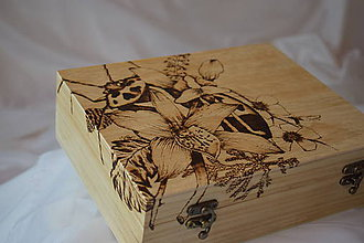 Krabičky - Drevená krabica - orchidea - 9270466_