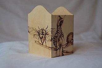 Krabičky - Drevená krabica - na môj písací stôl - 9271451_
