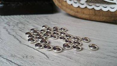 Korálky - Hematit rondelky - strieborné 6x2mm - 9273614_