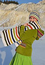 Pletený set - čiapka a šál