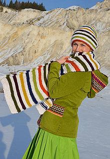 Iné oblečenie - Pletený set - čiapka a šál - 9269033_