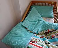 Textil - Obliečky do postieľky - autíčka 3 - 9272607_