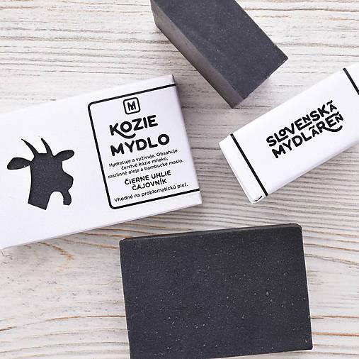 Kozie mydlo v krabičke: AKTÍVNE UHLIE & ČAJOVNÍK