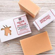 Drogéria - Kozie mydlo v krabičke: NATURAL & KALMÍNOVÝ PRÁŠOK - 9272247_