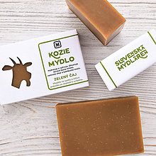 Drogéria - Kozie mydlo v krabičke: MATCHA - 9272875_