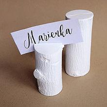 Darčeky pre svadobčanov - Menovka- stojan na menovku - 9273304_