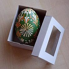 Dekorácie - Kraslica batikovaná voskovaná  (1 kraslica - Zelená) - 9268900_