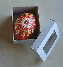 Dekorácie - Kraslica batikovaná voskovaná  (1 kraslica - Červená) - 9268904_