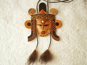 Náhrdelníky - Kožený náhrdelník, Aja - 9271549_
