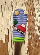 Pomôcky - lyžička s autíčkom - 9273223_