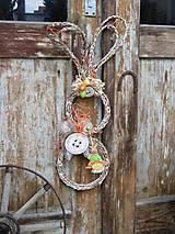 Dekorácie - Závesná veľkonočná dekorácia - zajačik ušiačik - 9277047_