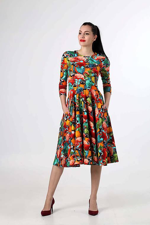 66d75fcccfca Midi šaty so vzorom   ZuzanaZachar - SAShE.sk - Handmade Šaty
