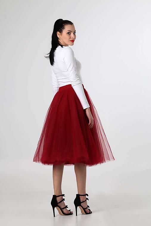 79ce6cef56f0 MIDI tylová sukňa bordová   ZuzanaZachar - SAShE.sk - Handmade Sukne