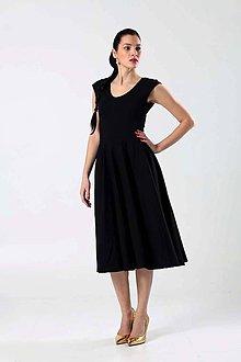 Šaty - Midi šaty čierne - 9274426_