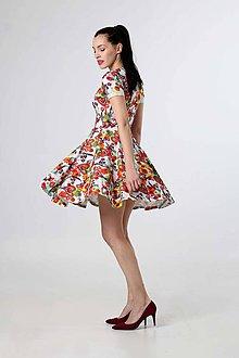 Šaty - Šaty pestrofarebné s kruhovou sukňou - 9276455_