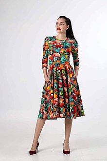 Šaty - Midi šaty so vzorom - 9276809_