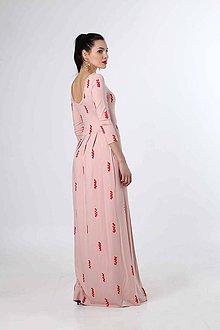 Šaty - Dlhé ružové s rozparkom - 9277193_
