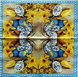 Papier - S1182 - Servítky - Veľká noc, kraslica, narcis, modrotlač, tulipán - 9275241_