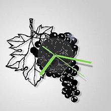 Hodiny - Grapes - vinylové hodiny (vinyl clocks) - 9276081_
