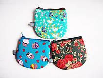 Peňaženky - Peňaženky - muffiny+kvety - 9275069_