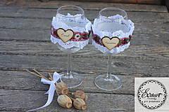 Návleky na svadobné poháre - folk