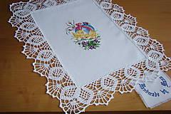 Úžitkový textil - Ručne vyšívaná dečka Veľká Noc - 9276136_